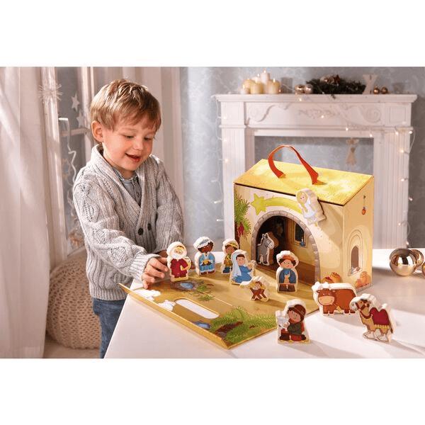 Speelgoedwinkel Daantje haba speelgoed kerststal van hout