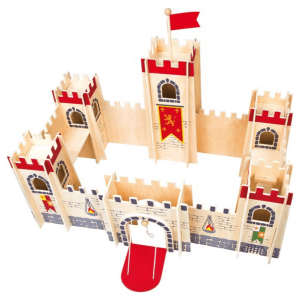 Speelgoedwinkel Daantje houten kasteel klassiek bovenaf