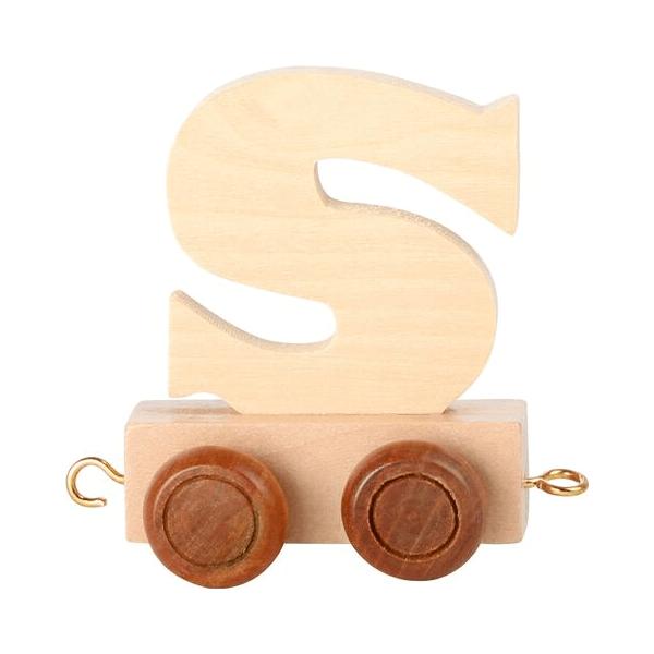 Speelgoedwinkel Daantje houten lettertrein blank S