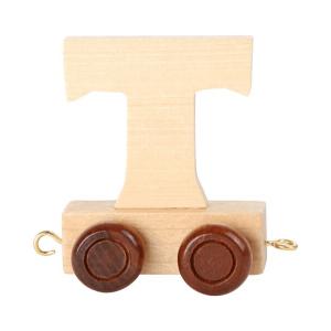 Speelgoedwinkel Daantje houten lettertrein blank T