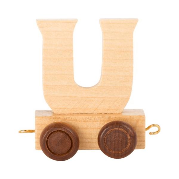 Speelgoedwinkel Daantje houten lettertrein blank U