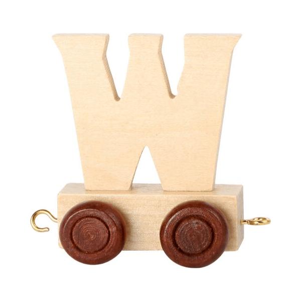 Speelgoedwinkel Daantje houten lettertrein blank W