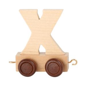 Speelgoedwinkel Daantje houten lettertrein blank X