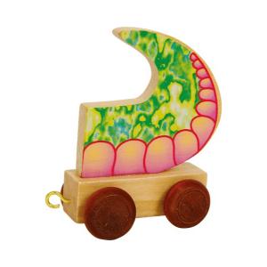 Speelgoedwinkel Daantje houten naamtrein draak achterkant