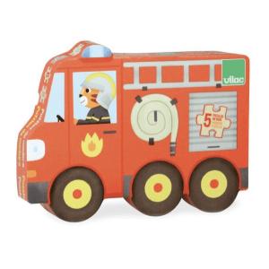 Speelgoedwinkel Daantje houten puzzel brandweer voertuigen