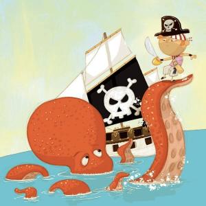 Speelgoedwinkel Daantje houten puzzel piraten