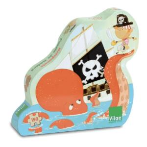 Speelgoedwinkel Daantje houten puzzel piraten Vilac