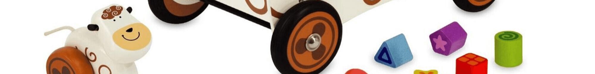 Speelgoedwinkel Daantje houten speelgoed loopfietsje houten loopwagen