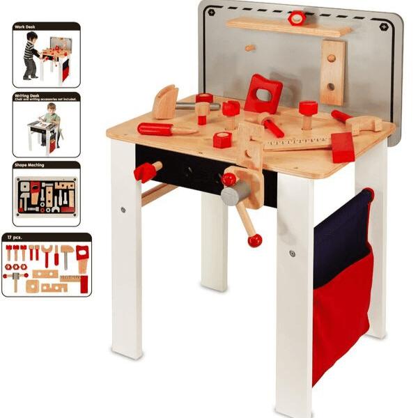 Speelgoedwinkel Daantje houten werkbank rubberhout Im Toy