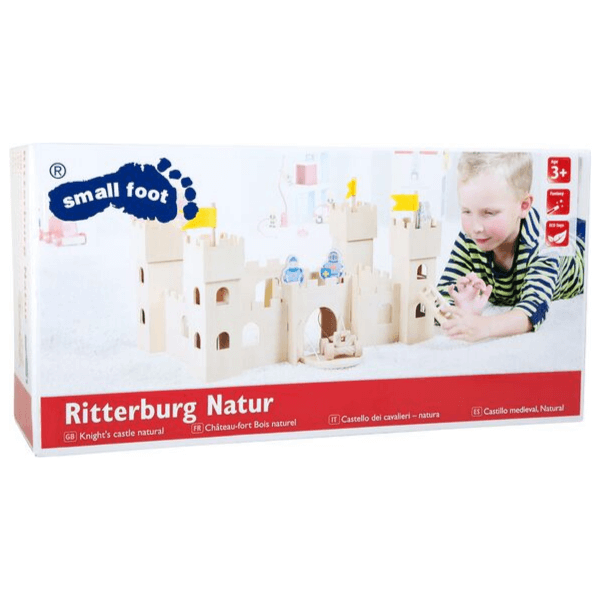 Speelgoedwinkel Daantje kasteel blank hout verpakking