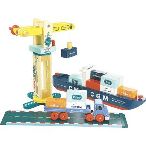 Vilac containerschip met kraan en vrachtwagen