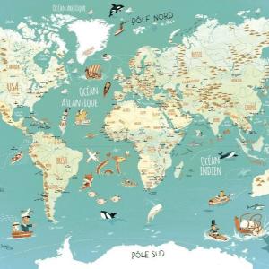 Wereldkaart puzzel Vilac