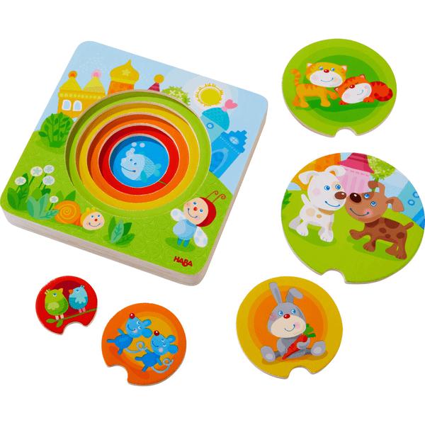 303536 Speelgoedwinkel Daantje haba kakelbonte dieren kleurrijke puzzel