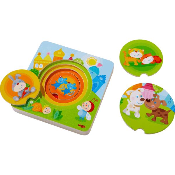 303536 Speelgoedwinkel Daantje haba puzzel kakelbonte dieren