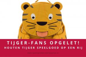 Houten speelgoed tijger