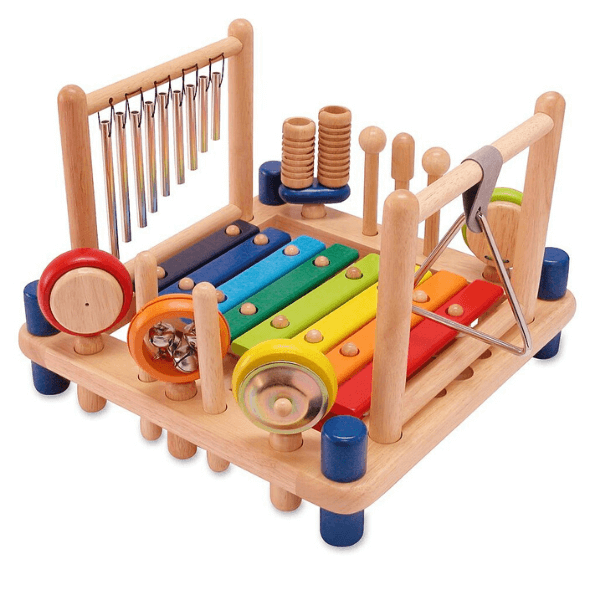 IM22050 Speelgoedwinkel Daantje houten muziekcenter I'm Toy