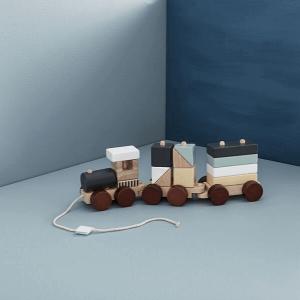 Oud speelgoed van vroeger trektreintje