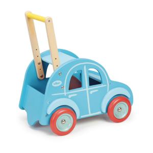 Loopwagen auto blauw